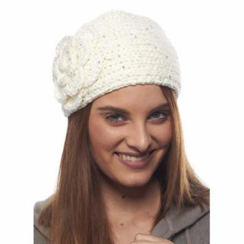 Greatlookz Crystal Chrysanthemum Knit Winter Headband with Sequin Flower