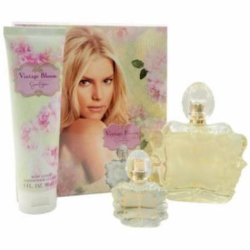 JESSICA SIMPSON Vintage Bloom Coffret: Eau De Parfum Spray 100ml/3.4oz + Eau De Parfum Spray 7.5ml/0.25oz + Body Lotion