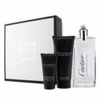 CARTIER Declaration D'un Soir Coffret: Eau De Toilette Spray 100ml/3.3oz + Shower Gel 100ml/3.3oz + After Shave Emulsion