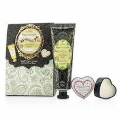 Healthcote & Ivory Beau Jardin Hand & Lip Set: Citrus Grove Hand Cream 75ml/2.5oz + Cocoa Butter Lip Balm 14g/0.49oz For