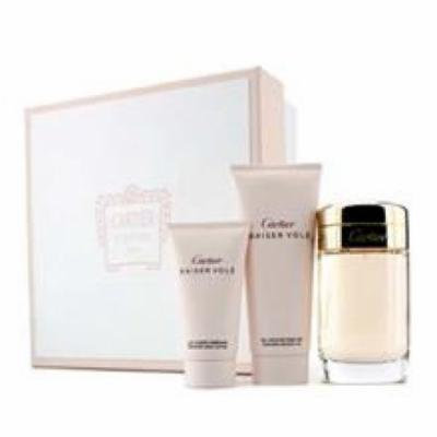 CARTIER Baiser Vole Coffret: Eau De Parfum Spray 100ml/3.3oz + Shower Gel 100ml/3.3oz + Body Lotion 50ml/1.6oz For Women