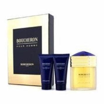 Boucheron Coffret: Eau De Parfum Spray 100ml/3.3oz + 2x Soothing After Shave Balm 50ml/1.6oz For Men