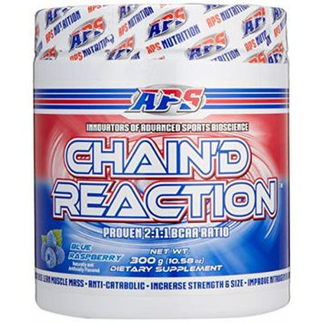 Chain'd Reaction - The Ultimate BCAA Amino Acid Recovery Aid for Muscle Growth, Blue Raspberry, 300 Gram