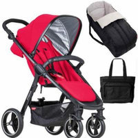 Phil & Teds Smart Buggy Baby Stroller New Born System in - Cherry