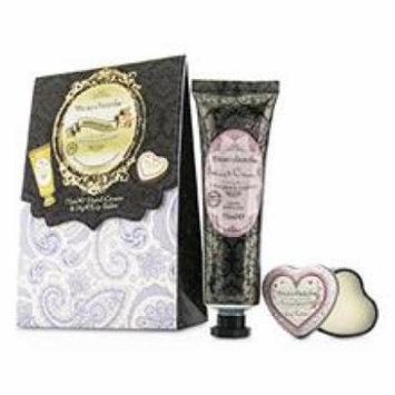 Healthcote & Ivory Beau Jardin Hand & Lip Set: Lavender & Jasmine Hand Cream 75ml/2.5oz + Cocoa Butter Lip Balm For Wome