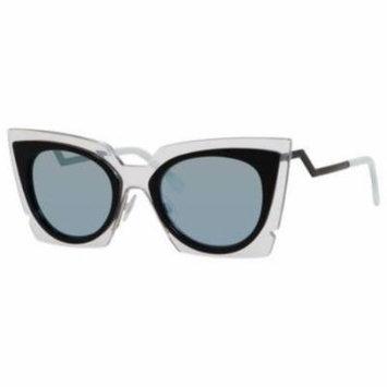 FENDI Sunglasses 0117/S 0IBZ Crystal Black 49MM