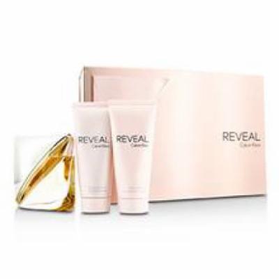 Calvin Klein Reveal Coffret: Eau De Parfum Spray 100ml/3.4oz + Body Lotion 100ml/3.4oz + Shower Gel 100ml/3.4oz For Wome