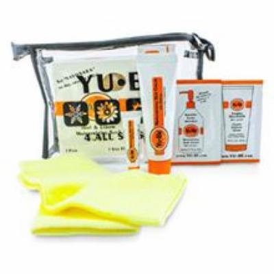 Yu-Be Heel & Elbow Repair Kit: Moisturizing Sock 1 Pair + Skin Cream 31ml & 3ml + Foaming Skin Polish 4ml + Body Lotion