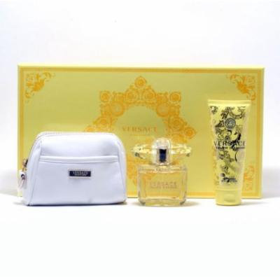 Versace Yellow Diamond 3 Sp/3.4 Body Lotion/White Cos Trousee Size: Set