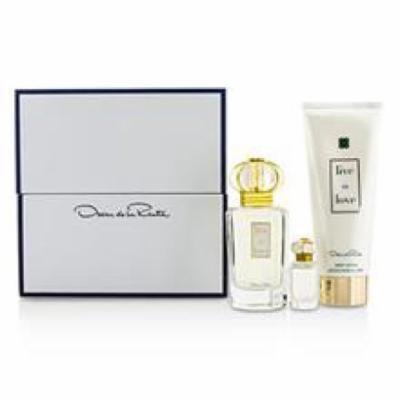 OSCAR DE LA RENTA Live In Love Coffret: Eau De Parfum Spray 50ml/1.7oz + Eau De Parfum Miniature 4ml/0.13oz + Body Lotio