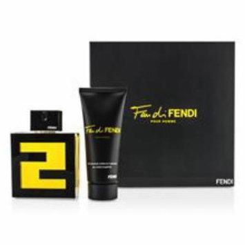 FENDI Fan Di Fendi Pour Homme Coffret: Eau De Toilette Spray 100ml/3.3oz + All Over Shampoo 100ml/3.3oz For Men