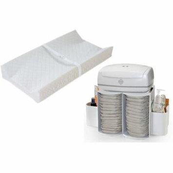 Prince Lionheart Modular Diaper Depot Organizer with Contoured Changing Pad