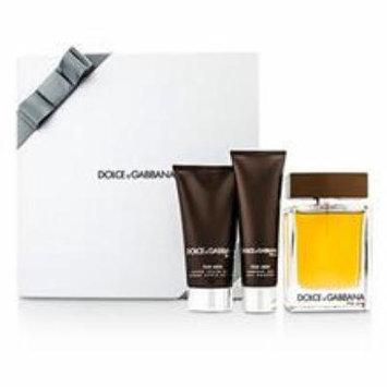 Dolce & Gabbana The One Coffret: Eau De Toilette Spray 100ml/3.3oz + After Shave Balm 75ml/2.5oz + Shower Gel 50ml/1.6oz
