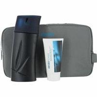 Kenzo Set-Edt Spray 3.4 Oz & Aftershave Balm Alcohol Free 1.7 Oz & Bag