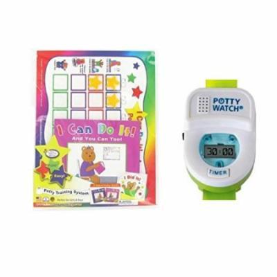 Kenson Kids Potty Training Chart Set with Potty Watch, Pink/Green