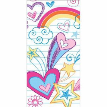 Club Pack of 12 Vibrant Notebook Doodle Printed Hanky Swankies Pocket Facial Tissues