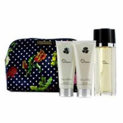 OSCAR DE LA RENTA Oscar Coffret: Eau De Toilette Spray 100ml/3.4oz + Body Lotion 100ml/3.4oz + Body Gel 100ml/3.4oz + Co