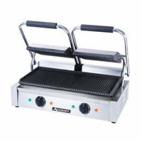 AdCraft Stainless Steel Grooved Plate Double Sandwich Grill SG-813