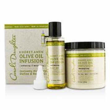 Carol's Daughter Khoret Amen Olive Oil Infusion Kit: Hair Oil 60ml + Hair Smoothie 226g
