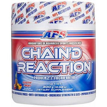 Chain'd Reaction - The Ultimate BCAA Amino Acid Recovery Aid for Muscle Growth, Exotic Fruit, 300 Gram