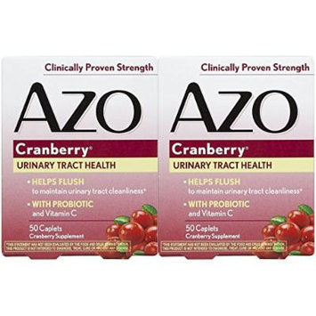 I-Health 50 Piece Azo Urinary Tract Health Cranberry Tablets, 2 Count