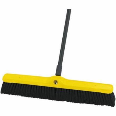 Rubbermaid Commercial Tampico-Bristle Floor Sweeper, Medium, Black, 12 count
