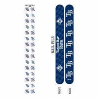 Bundle 2 Items: Tampa Bay Rays Nail File and Nail Sticker Decals