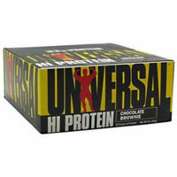 Universal Nutrition Chocolate Brownie Hi Protein Bars, 3 oz, 16 count