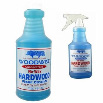 Woodwise Hardwood Floor Cleaner Ready To Use 32 oz and Concentrate 32 oz