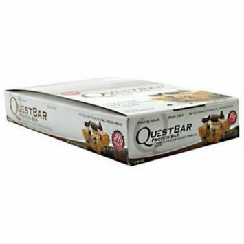 Quest Nutrition QuestBar Chocolate Chip Cookie Dough Protein Bars, 2.1 oz, 12 count