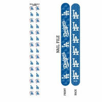 Bundle 2 Items: Los Angeles Dodgers Nail File and Nail Sticker Decals