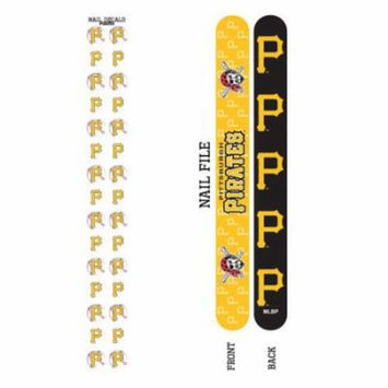 Bundle 2 Items: Pittsburgh Pirates Nail File and Nail Sticker Decals