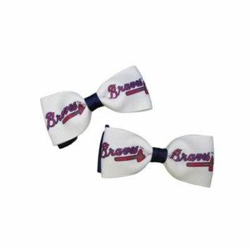 Atlanta Braves Hair Bow Pair