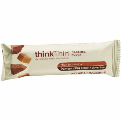 thinkThin Caramel Fudge High Protein Bars, 2.1 oz, 10 count