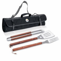 Picnic Time 3-Piece BBQ Tote, Pittsburgh Steelers Digital Print