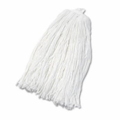 Cut-End Wet Mop Head, Rayon, No. 32, White