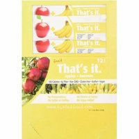 That's It Apple & Blueberry Fruit Bars, 1.2 oz, 12 count