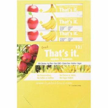 That's It Apple & Blueberry Fruit Bars, 1.2 oz, 12 count