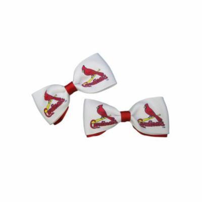 St. Louis Cardinals Hair Bow Pair