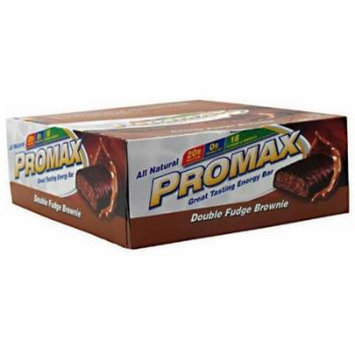 Promax Double Fudge Brownie Energy Bars, 2.64 oz, 12 count