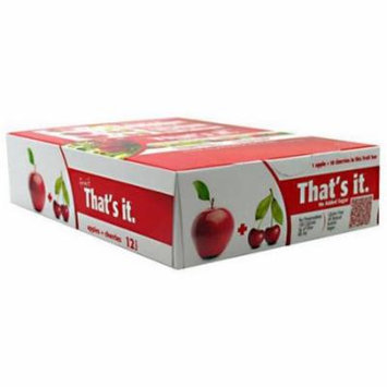 That's It Apple + Cherry Fruit Bars, 12 count