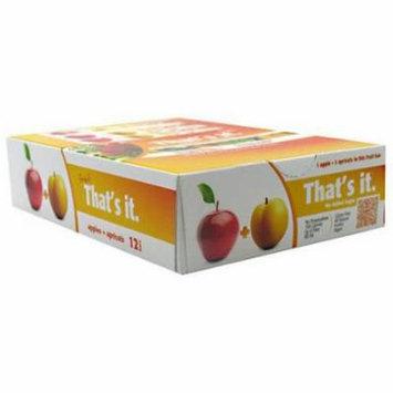 That's It Apple + Apricot Fruit Bars, 12 count