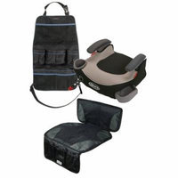 Graco Affix Backless Booster Car Seat with Car Seat Mat & Backseat Organizer, Pierce