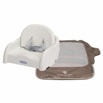 Graco Blossom Booster Seat with Seat Neat Chair Cover, White/Brown