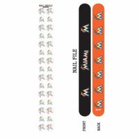 Bundle 2 Items: Miami Marlins Nail File and Nail Sticker Decals
