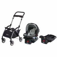 Graco SnugRide 30 LX Click Connect Car Seat with Car Seat Carrier & Extra Car Seat Base, Glacier