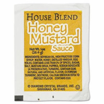 House Blend Rectangular Cup Dipping Sauces, Honey Mustard, 1 oz Cup, 1