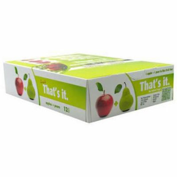 That's It Apple + Pear Fruit Bars, 12 count