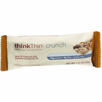 thinkThin Crunch White Chocolate Dipped Mixed Nuts Nut Bars