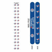 Bundle 2 Items: Toronto Blue Jays Nail File and Nail Sticker Decals